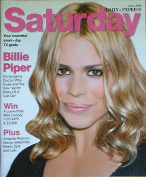 Saturday magazine - Billie Piper cover (5 July 2008)