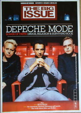 The Big Issue magazine - Depeche Mode cover (28 November-4 December 2005)