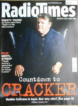 <!--2006-09-30-->Radio Times magazine - Robbie Coltrane cover (30 September
