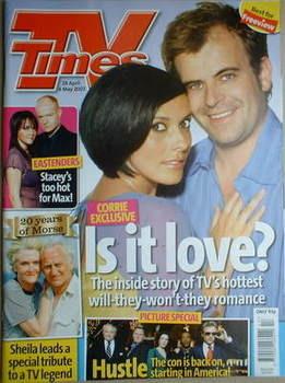 <!--2007-04-28-->TV Times magazine - Kym Ryder and Simon Gregson cover (28