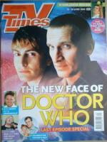 <!--2005-06-18-->TV Times magazine - David Tennant and Christopher Eccleston cover (18-24 June 2005)