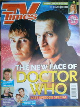 <!--2005-06-18-->TV Times magazine - David Tennant and Christopher Ecclesto