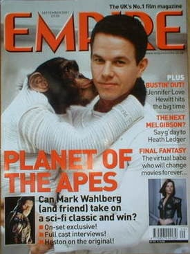 <!--2001-09-->Empire magazine - Mark Wahlberg cover (September 2001)