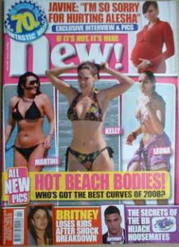 New magazine - 14 January 2008 - Martine McCutcheon, Kelly Brook, Leona Lewis cover