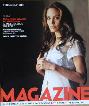 <!--2007-09-08-->The Times magazine - Angelina Jolie cover (8 September 200