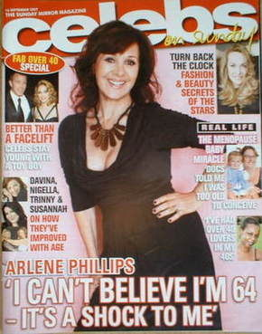 <!--2007-09-16-->Celebs magazine - Arlene Phillips cover (16 September 2007