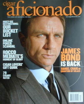 Cigar Aficionado magazine - Daniel Craig cover (December 2008)