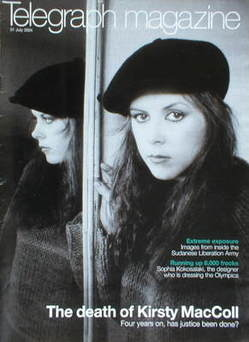 <!--2004-07-31-->Telegraph magazine - Kirsty MacColl cover (31 July 2004)