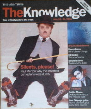 The Knowledge magazine - 20-26 May 2006 - Paul Merton cover
