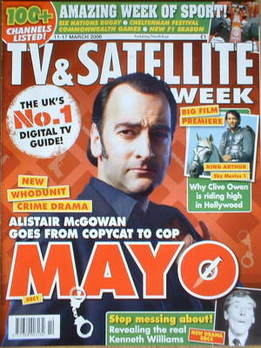TV & Satellite Week magazine - Alistair McGowan cover (11-17 March 2006)