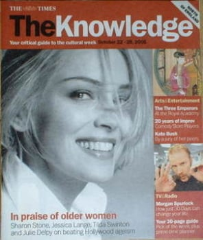 The Knowledge magazine - 22-28 October 2005 - Sharon Stone cover