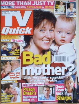 TV Quick magazine - Kacey Ainsworth cover (22-28 April 2006)