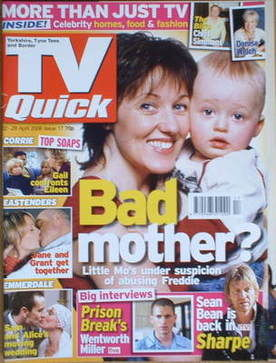 TV Quick magazine - Kacey Ainsworth cover (22-28 April 2006)