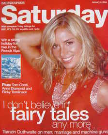 Saturday magazine - Tamzin Outhwaite cover (3 January 2004)