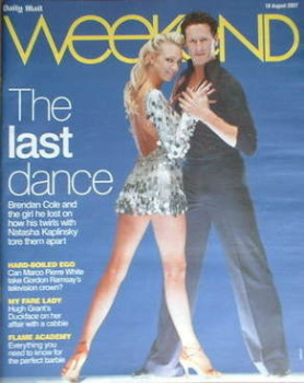 Weekend magazine - Brendan Cole and Camilla Dallerup cover (18 August 2007)