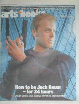 The Daily Telegraph Arts & Books newspaper supplement - Kiefer Sutherland c
