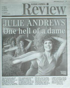 Sunday Express Review newspaper supplement - Julie Andrews cover (25 Februa