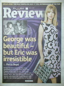 The Mail On Sunday Review newspaper supplement - Pattie Boyd cover (5 Augus