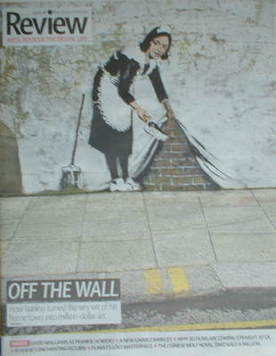 The Daily Telegraph Review newspaper supplement - 29 March 2008 - Banksy ar