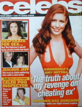 Celebs magazine - Amy Nuttall cover (20 February 2005)