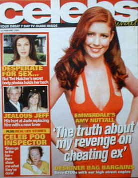 <!--2005-02-20-->Celebs magazine - Amy Nuttall cover (20 February 2005)