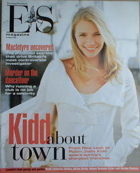 <!--2003-03-14-->Evening Standard magazine - Jodie Kidd cover (14 March 200