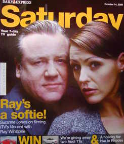 <!--2006-10-14-->Saturday magazine - Ray Winstone and Suranne Jones cover (14 October 2006)