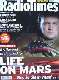 <!--2007-04-07-->Radio Times magazine - John Simm and Philip Glenister cove
