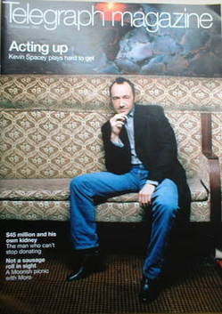 <!--2004-11-13-->Telegraph magazine - Kevin Spacey cover (13 November 2004)