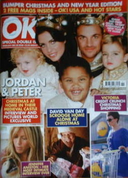 OK! magazine - Jordan Katie Price and Peter Andre and family cover (30 December 2008 - Issue 654)
