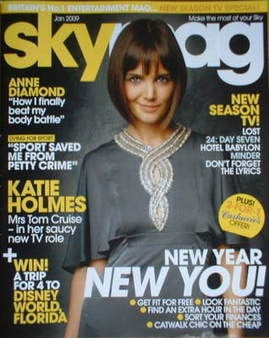 Sky TV magazine - January 2009 - Katie Holmes cover