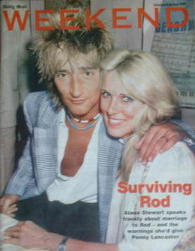 Weekend magazine - Rod Stewart and Alana Stewart cover (21 May 2005)