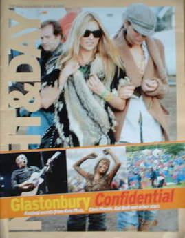Night & Day magazine - Kate Moss Glastonbury cover (19 June 2005)