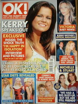 <!--2005-07-26-->OK! magazine - Kerry Katona cover (26 July 2005 - Issue 47