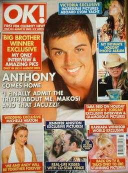 <!--2005-08-23-->OK! magazine - Anthony Hutton cover (23 August 2005 - Issu