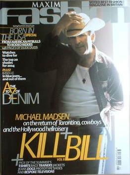 MAXIM Fashion magazine - Michael Madsen cover (Spring/Summer 2004)