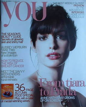 <!--2006-10-01-->You magazine - Anne Hathaway cover (1 October 2006)