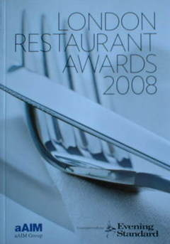 Evening Standard booklet - London Restaurant Awards 2008