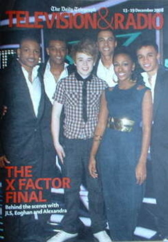 Television&Radio magazine - Alexandra Burke, Eoghan Quigg and JLS cover (13 December 2008)