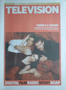 The Observer Television newspaper supplement - Joseph Millson, Laura Fraser