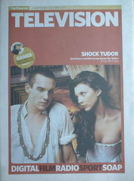 The Observer Television newspaper supplement - Jonathan Rhys Meyers and Nat