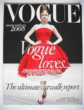 British Vogue supplement - The Ultimate Catwalk Report (Autumn/Winter 2008)