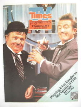 TV Times cover page - Roy Castle and Harry Secombe (TV section - 17-23 April 1982)