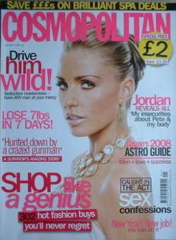Cosmopolitan magazine (January 2008 - Katie Price cover)