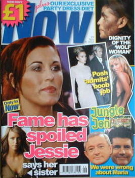 Now magazine - Jessie Wallace cover (23 November 2005)