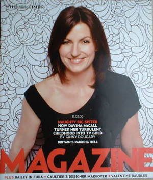 <!--2006-02-11-->The Times magazine - Davina McCall cover (11 February 2006