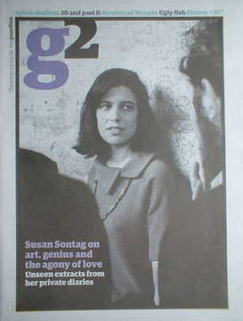 The Guardian G2 newspaper supplement - Susan Sontag cover (14 September 200