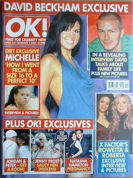 <!--2004-11-02-->OK! magazine - Michelle Bass cover (2 November 2004 - Issu