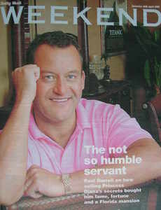 Weekend magazine - Paul Burrell cover (16 April 2005)
