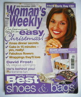 <!--2005-12-20-->Woman's Weekly magazine (20 December 2005 - British Editio